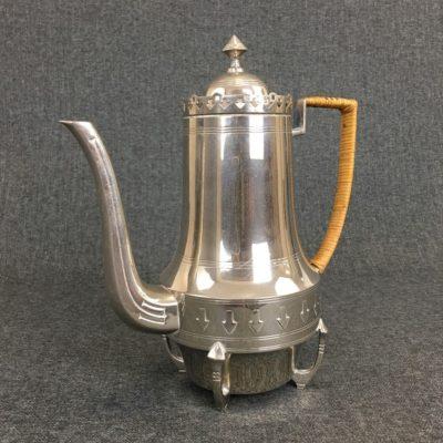 senovinis sidabro spalvos arbatinukas