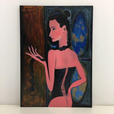 Lino Cicėno paveikslas Juodosios kasos šokėja