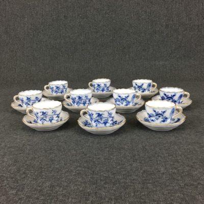 XIX amžiaus pabaigos Meissen porceliano servizas dešimčiai asmenų