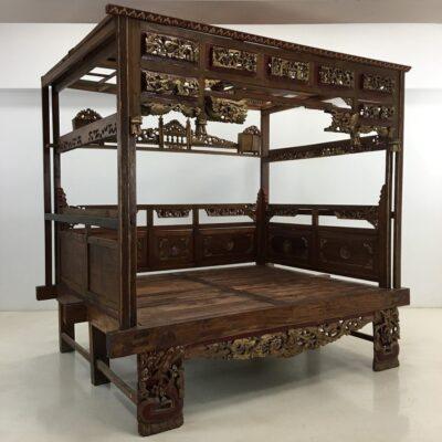 Кровать с балдахином в стиле Восточный, Голландия, середина 20 века