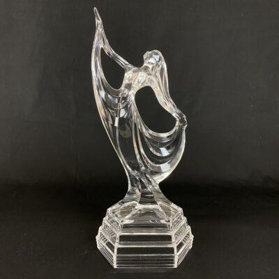 stiklinė šokėjos skulptūra