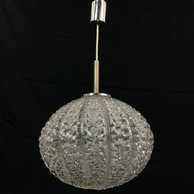 naudotas stiklinis pakabinamas šviestuvas