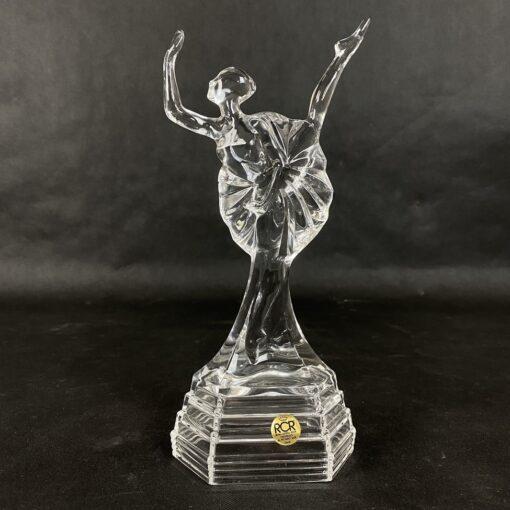 krištolinė balerinos skulptūra