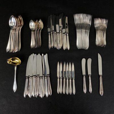 švediški GAB sidabriniai stalo įrankiai