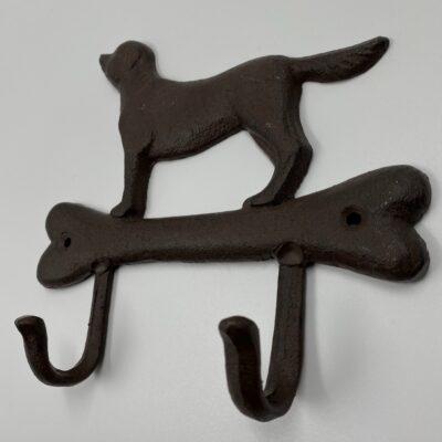 Naudota metalinė sieninė kabykla su šuniukų vaizdais