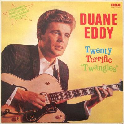 """Duane Eddy 1980 metais išleista vinilinė plokštelė Twenty Terrific """"Twangies"""""""