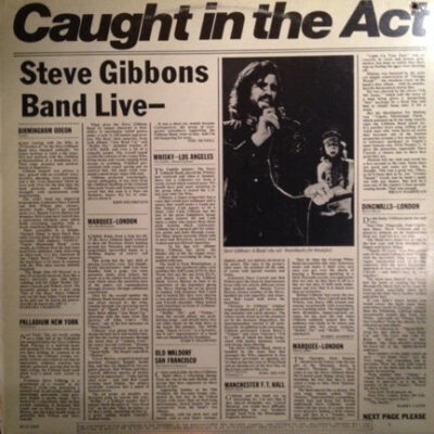Steve Gibbons Band vinilas Caught In The Act