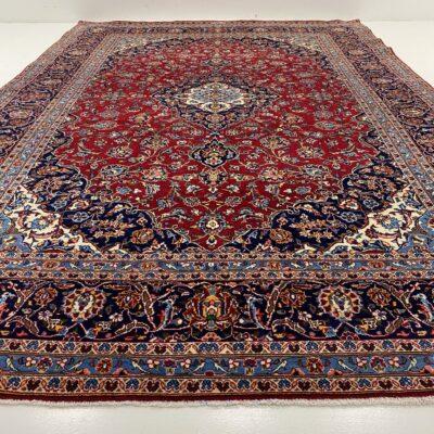 Margas augaliniais ornamentais dekoruotas persiškas rankų darbo kilimas Keshan