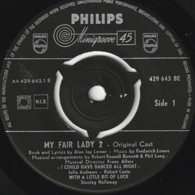Julie Andrews, Robert Coote, Stanley Holloway, Rex Harrison - 1960 - My Fair Lady 2