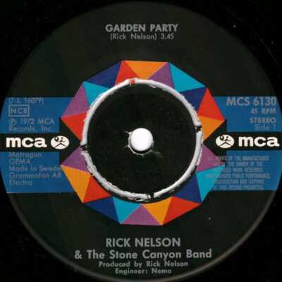 Rick Nelson And The Stone Canyon Band vinyl Garden Party