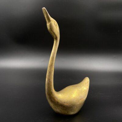 Žalvarinė anties skulptūra