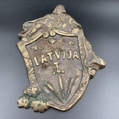 """Žalvarinė apdailos detalė """"Latvija"""""""