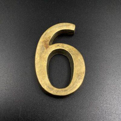 Žalvarinis durų ženklas 6