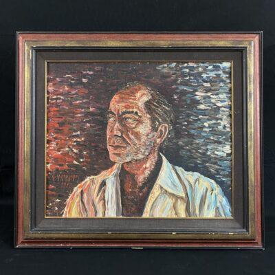 Aliejiniais dažais ant drobės impresionistiniu stiliumi tapytas portretas