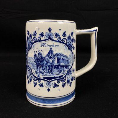 "Nyderlandų keramikos gamintojo ""Delft"" alaus bokalas"