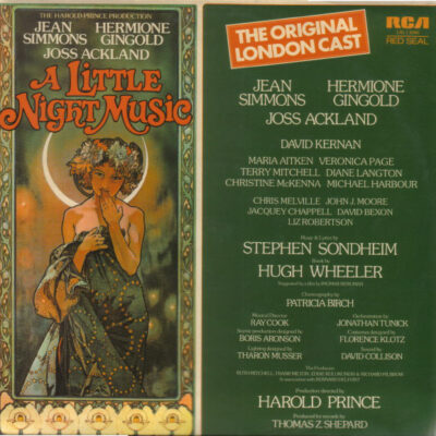 The Original London Cast, Jean Simmons, Hermione Gingold, Joss Ackland - 1975 - A Little Night Music