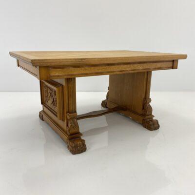 Ąžuolinis išskleidžiamas stalas