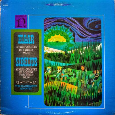 Elgar* / Sibelius - The Claremont Quartet - 1966 - String Quartet In E Minor Op. 83 / String Quartet In D Minor (Voces Intimae) Op. 56
