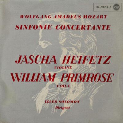 Mozart, Benjamin, Heifetz, Primrose - 1956 - Symphonie Concertante In E-FLat, K.364