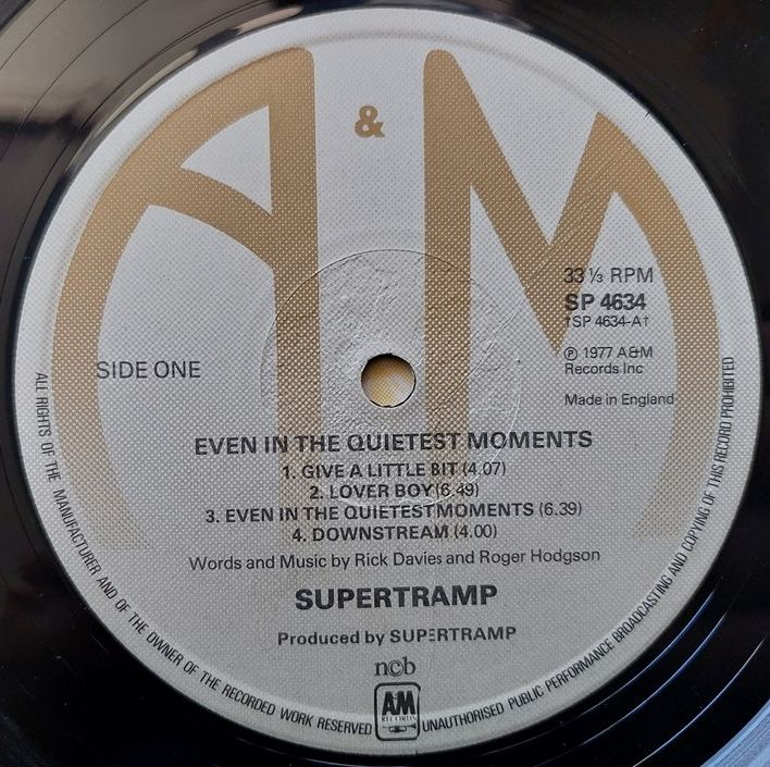 Supertramp - 1977 - Even In The Quietest Moments...