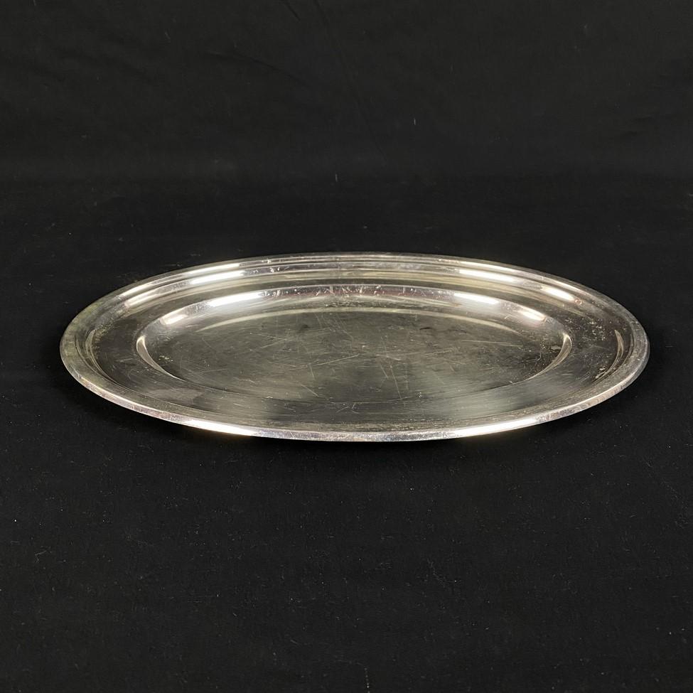 Senovinis sidabruotas padėklas