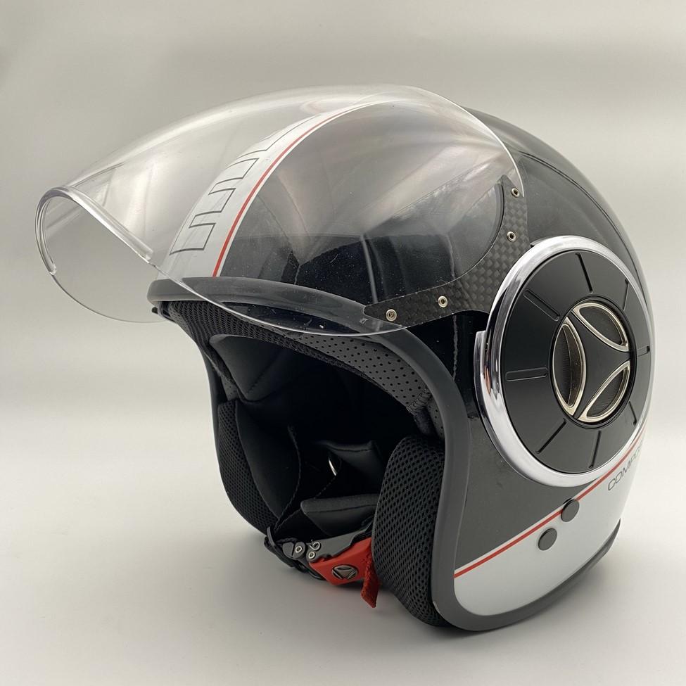 """Motociklininko šalmas su mikrofonu """" Momo Design Composite Fiber"""""""